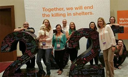 2017 Best Friends® National Conference with the Camden County Animal Shelter's team